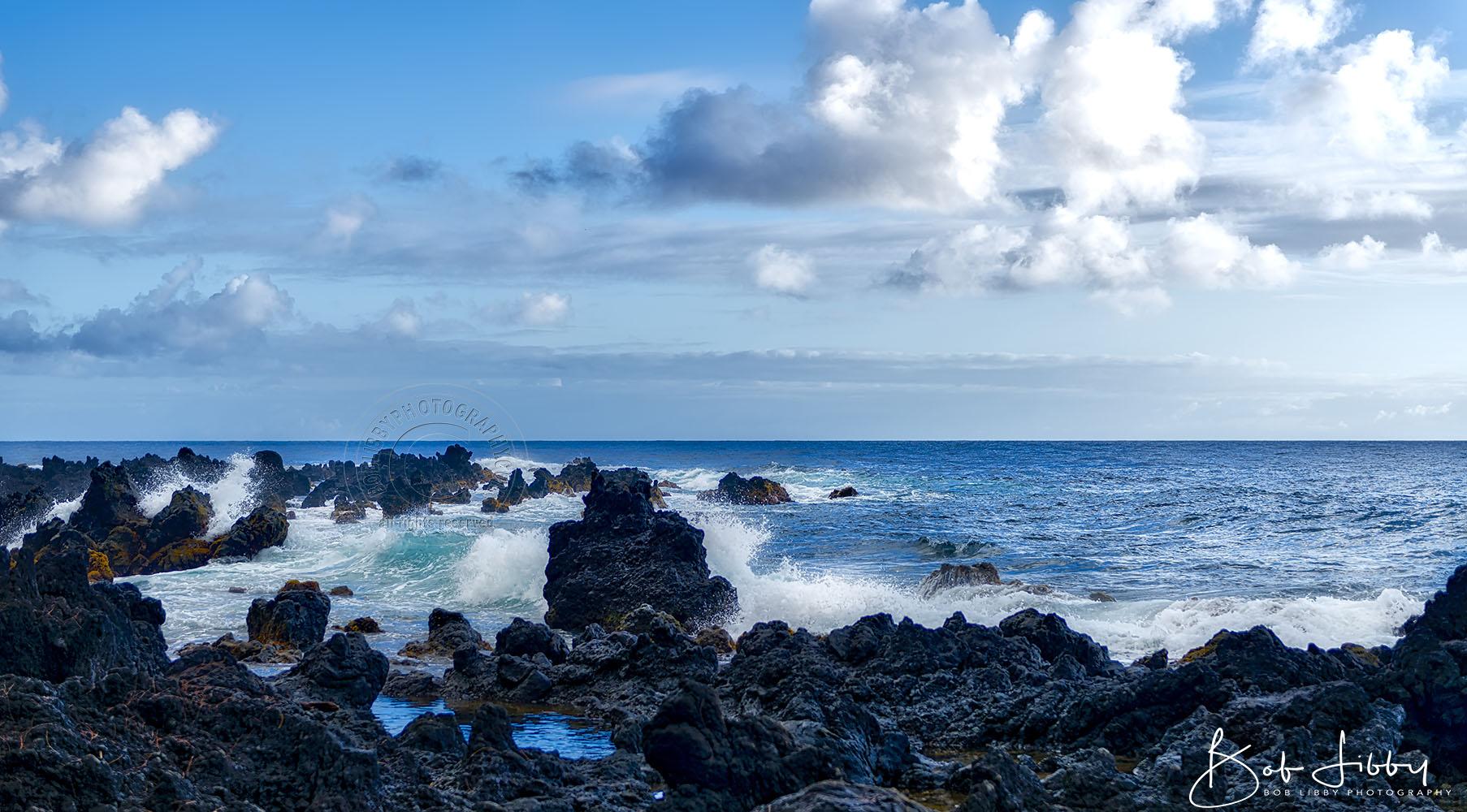 Hawaii, Lava Rocks in the Pacific Ocean