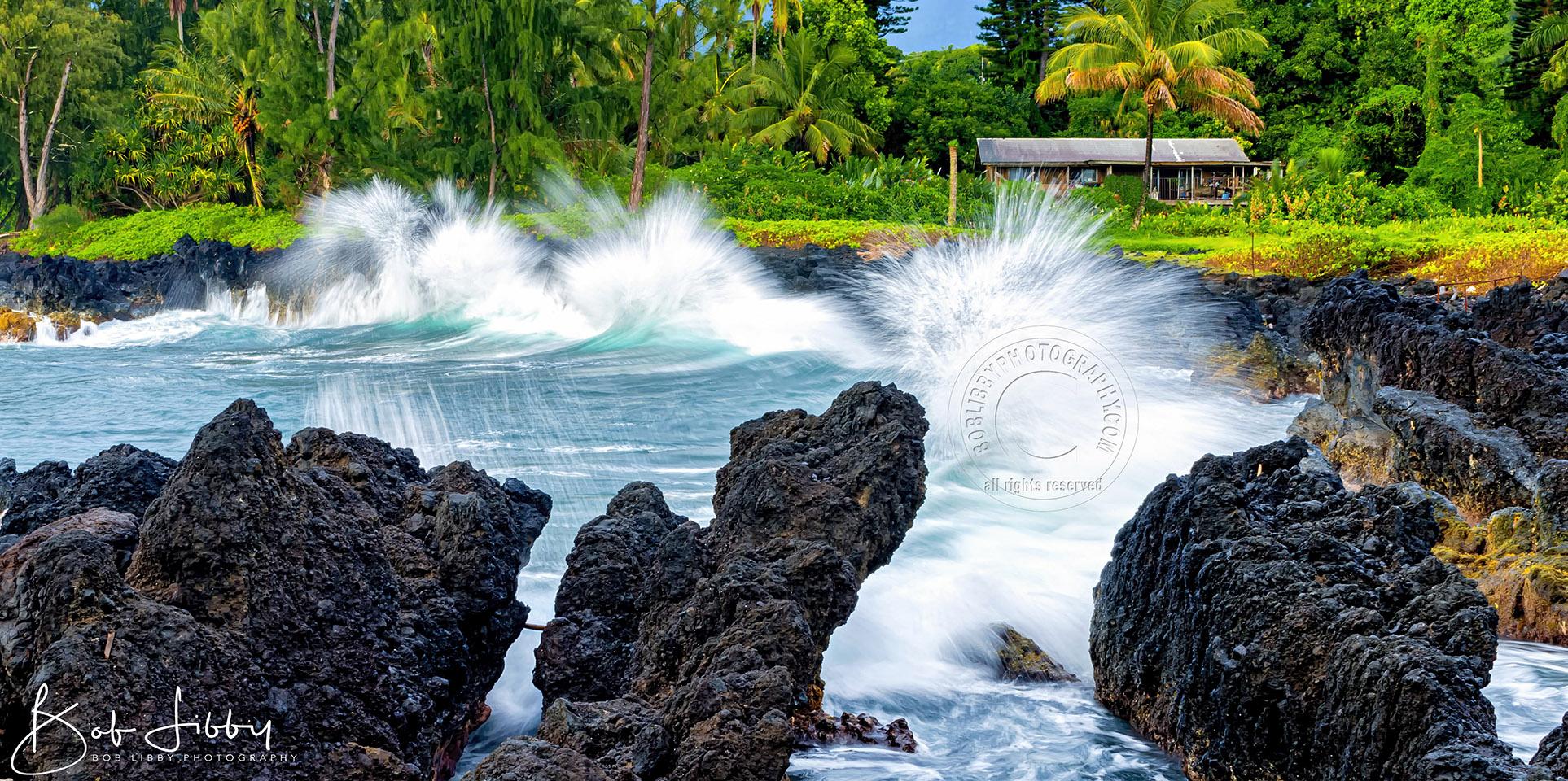Hawaiian Lava Rocks and Hut