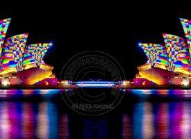 Opera House at Night Double Image