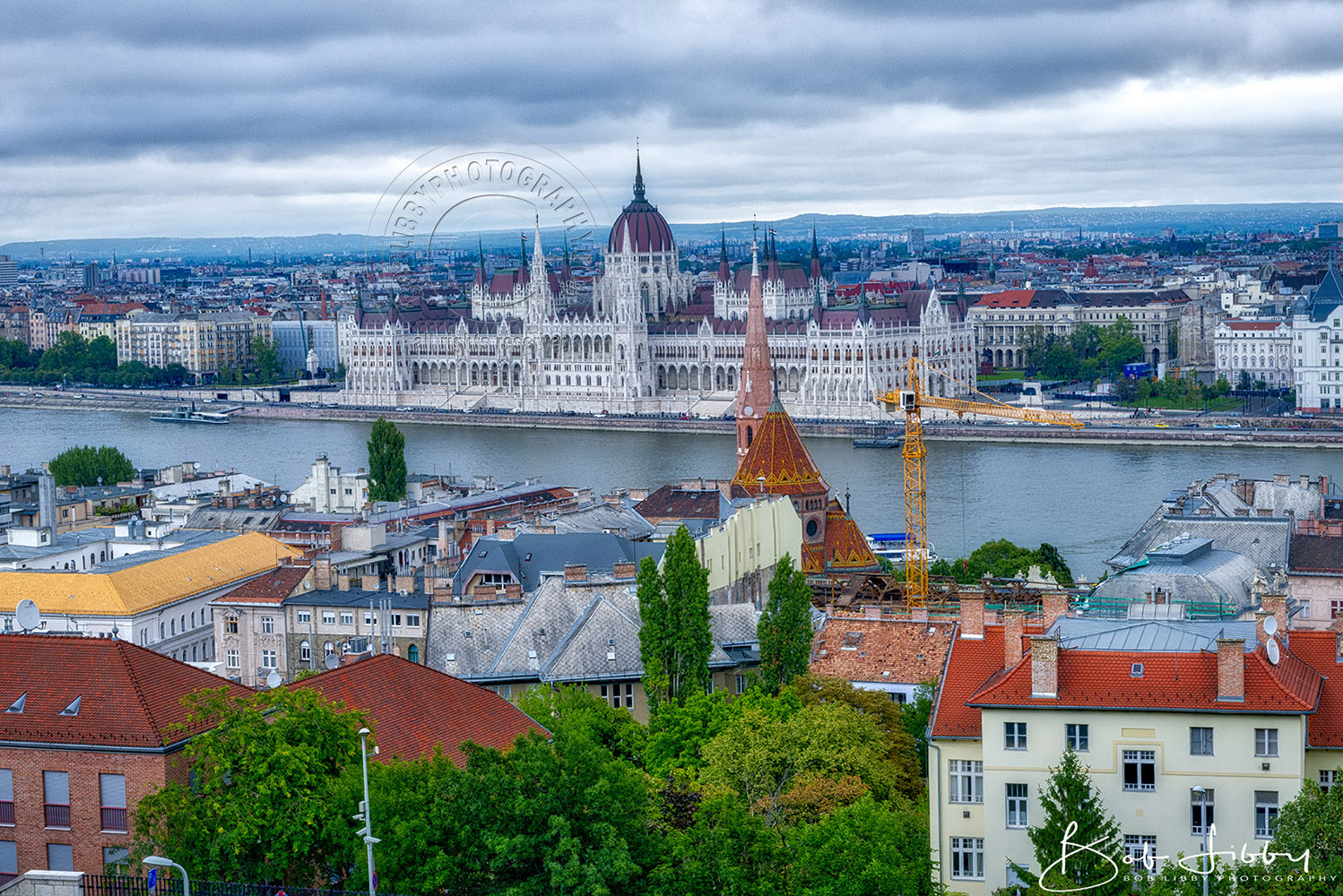 Overlooking The City Of Budapest