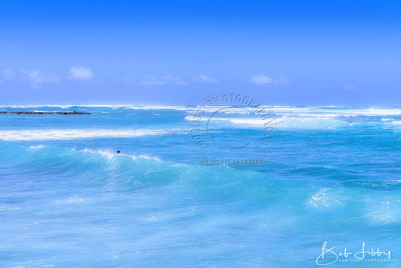Waikiki Beach, Oahu. Honolulu's most popular beach