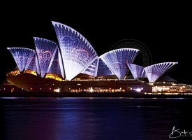 Opera House during Vivid Light Show