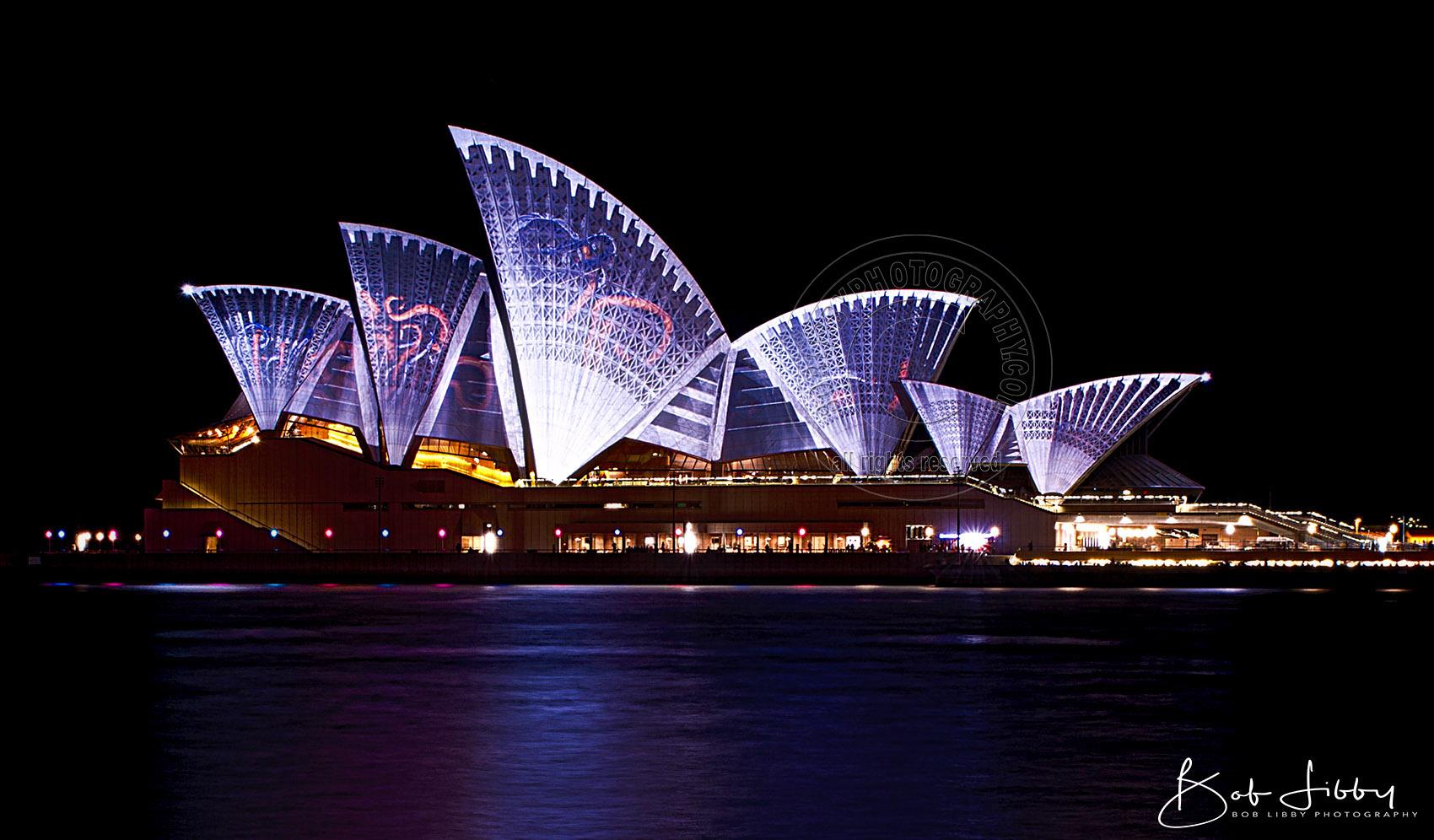 Opera House during Vivid Light Show