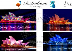 Vivid Light Show Sydney Opera House